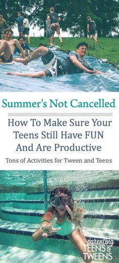 Summer's Not Cancelled! Here's How To Make Sure Your Teens Still Have Fun And Are Productive! #summer #summerfun #summeractivities Teen Fun, Teen Summer, Summer Fun, Summer Bucket, Summer Ideas, Summer Time, Outdoor Summer Activities, Summer Activities For Kids, Outdoor Fun