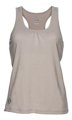 Tank top. Flow print. Built in bra. Quick dry single jersey. Feminine fit. Straight hem. Regular fit. Free Tank Pearl #exercise #workoutapparel #DailySports