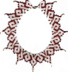 Beginner pattern seed beaded Gothic necklace par JewelrybyVarvara