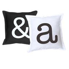 Deze kussens kunnen met elke letter bedrukt worden!