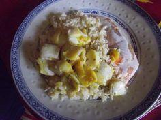 Mon livre de recettes: Truite au riz, accompagné d'encornet