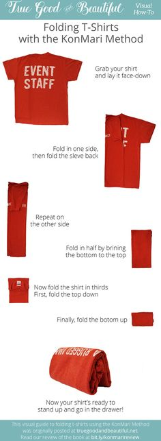 See the Konmari method and how it was used for small bedroom and office organization. Closet organization, dresser organization and small space organization