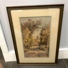 LILLIAN E CARY - Well Listed Artist - California Watercolor - 1940's - Initialed Santa Barbara California, California Sunset, Junior Wells, Vintage Landscape, Church Signs, Crystal Vase, Summer Landscape, Painted Signs, Initials