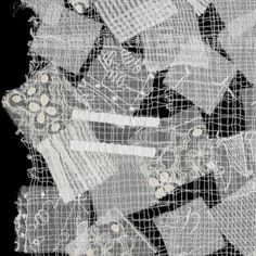 Minneapolis Institute of Art Textile Design, Textile Art, Textile Recycling, Powerful Art, Textile Texture, Japanese Textiles, Black And White Design, White Embroidery, Fabric Manipulation