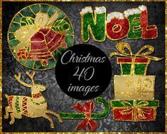 Christmas Clip Art Christmas Clipart, Etsy Store, Card Stock, Vibrant Colors, Banner, Clip Art, Awesome, Banner Stands, Vivid Colors