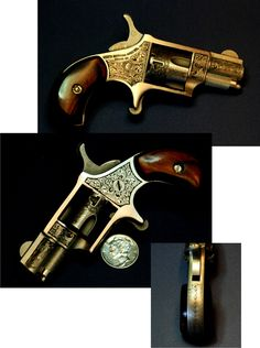 R North American Arms short. By Otto Carter- a Master Engraver. Rifles, 22 Caliber Pistol, North American Arms, Single Action Revolvers, Pocket Pistol, Battle Rifle, Guns And Ammo, Weapons Guns, Lever Action