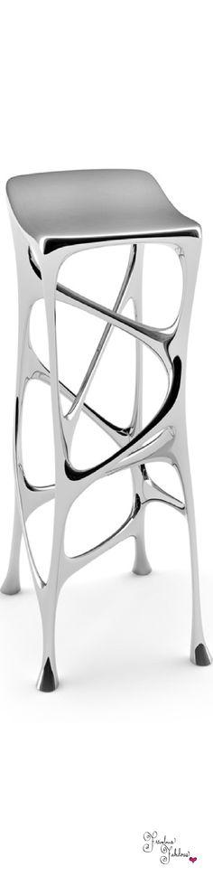 Frivolous Fabulous - Silver Stool