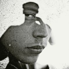 """Christoffer Relander - """"We Are Nature"""" series.  Double and triple exposure portraits done in-camera with a Nikon D700"""