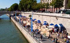 Paris' city beach
