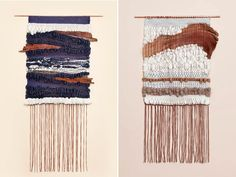 Wall-hangings by Mimi Jung, of Brook
