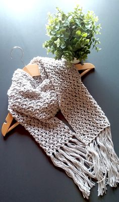 Trying my hands at a regular crochet scarf, plus learning the technique of attaching fringes to crochet projects..feeling proud with what came out!
