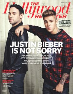 JUSTIN BIEBER FOR THE HOLLYWOOD REPORTER NOVEMBER