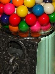 Vintage Candy, Peanut, and Gumball Machines