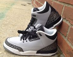 "01d2a87aaf4 13 Best Air Jordan 3 ""Wolf Grey"" images | Air jordan 3, Jordan shoes ..."