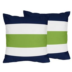 Stripe Collection 18-inch Decorative Throw Pillows (Set of 2) - Overstock™ Shopping - Great Deals on Sweet Jojo Designs Throw Pillows