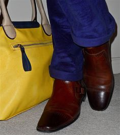 Kenneth Cole cords, Stacy Adams boots…