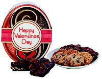 Red Oval Gift Tin - Valentines 2 - Cookie and Brownie Options