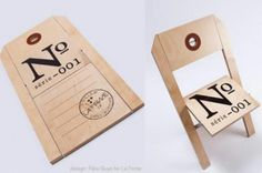 Clever 'ticket' fold out chair by Felix Guyon