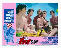 THE FAT SPY 1966 movie. Christopher and Lauree Berger play Frankie and Nanette in this Beach Party spoof film. On a small island off the coast of Florida, a dozen teenagers combine the beach, singing, dancing and rock & roll with a search for buried treasure.