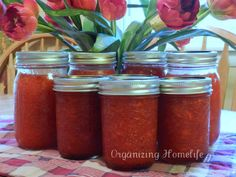 Easy Strawberry Freezer Jam in less than 20 minutes start to finish.  Tutorial for beginners