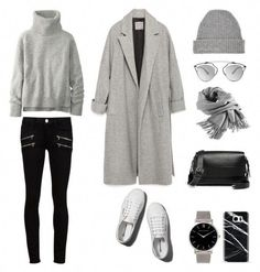 A fashion look from January 2016 featuring Zara coats, Paige Denim jeans y Abercrombie & Fitch sneakers. Browse and shop related looks. Paige Denim, Black Women Fashion, Look Fashion, Fashion Outfits, Womens Fashion, Phillip Lim, Christian Dior, Insta Outfits, Casual Outfits