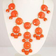 Orange Bubble Necklace
