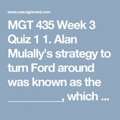 Mgt 420 week 1 role of stakeholder