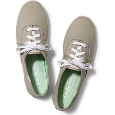 Keds Champion Dip Dye Lace featuring polyvore, fashion, shoes, sneakers, flats, keds, eucalyptus green, green shoes, lace sneakers, colorful sneakers, lace shoes and lace up flats