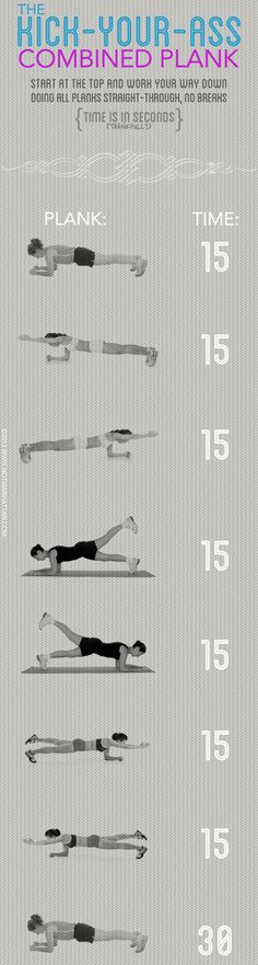 Kick-Your-Ass Combined Plank #fitness #strong