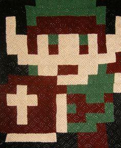 Custom Pixel Afghan  Link by NikisKnerdyKnitting on Etsy