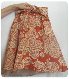 Feeding Nine on a Dime!: Sleeveless Ladies Dresses Into Girls Skirts