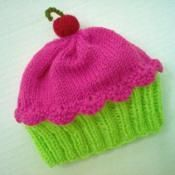 Cupcake Hat preemie newborn 3 6 9 12 18 months Cherry on Top Key Lime Green Cake Raspberry Watermelon Frosting Handmade Hand Knit Baby Booties Knitting Pattern, Baby Knitting, Knitting Patterns, Crochet Patterns, Crochet Basics, Knit Or Crochet, Crochet Hats, How To Start Knitting, How To Purl Knit