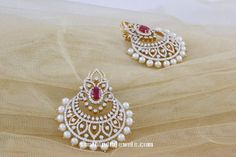 Diamond Chandbali from Manubhai Jewellers