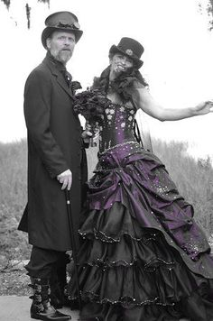 Steampunk Wedding Dress Available in other colors