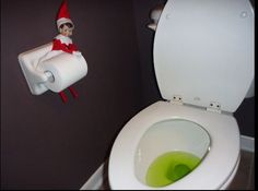 What the HELL kind of drug turns urine this color? Santa should start doing random drug tests. I wouldn't want to be around when Elf starts tripping on whatever that was.