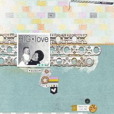 Big Love - for a template challenge by Pink Reptile Designs.