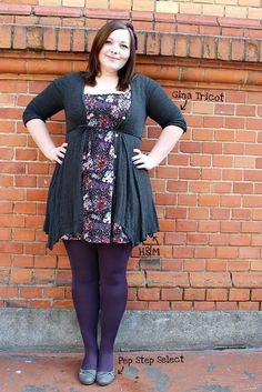 Cardigan // Gina Tricot Dress // H&M Hair Circlet // Primark Shoes // Pep Step. Grunge Look, Grunge Style, 90s Grunge, Soft Grunge, Grunge Outfits, Tokyo Street Fashion, Plus Size Dresses, Plus Size Outfits, Curvy Fashion