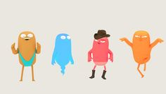 Very clever Google ad campaign with quirky character design