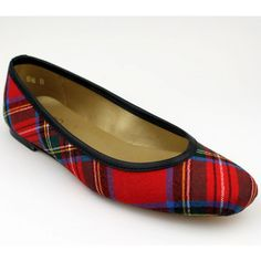 Ballet Flat in Royal Stewart Tartan Plaid by Eliza B.