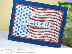 Happy 4th Of July Card by Ashley Cannon Newell for Papertrey Ink (May 2016)