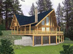 Two level Log Home Escape with basement.
