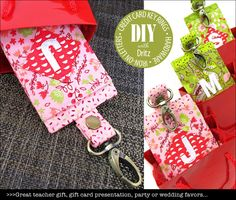 Credit Card Key Rings: Dritz Hardware & Iron-On Letters | Sew4Home