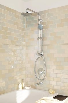 View The Signature Hardware 925942 Tosca Thermostatic Shower System With  Rainfall Shower Head And Hand Shower   Rough In Includeu2026