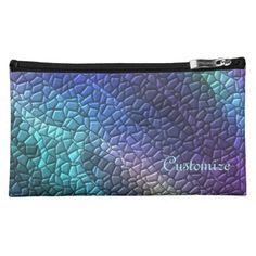 Colorful Dragon Skin Mosaic Tiles Cosmetics Bag