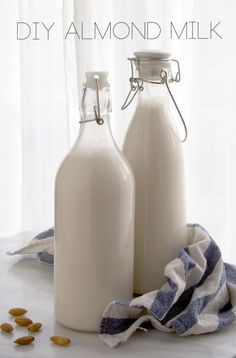 Make Your Own Almond Milk and Almond Flour (for cheap and easy!) - via All Sorts of Pretty #Almond_Milk #Almond_Flour #Easy