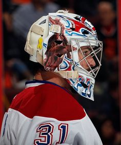 Carey Price, Montreal Canadiens (nhl-lifestyle) Hockey Helmet, Hockey Goalie, Hockey Players, Ice Hockey, Montreal Canadiens, Nhl 2016, Hockey Pictures, Frozen Water, Game