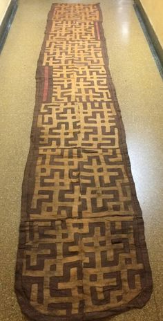 African Art  Tribal Art 100% Authentic and Handwoven Kuba Cloth From DRC