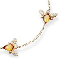 Citrine & diamond bracelet by Kiki McDonough