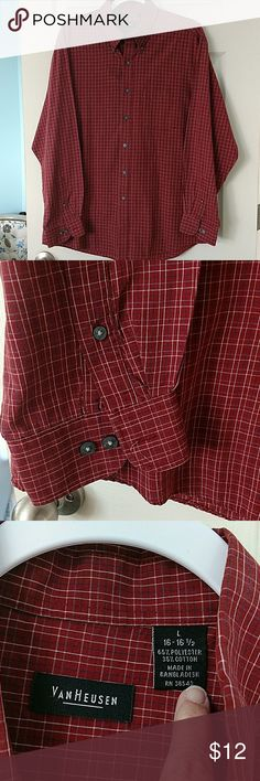 Van Heusen long sleeve shirt Beautiful rust colored long sleeve shirt. Very good condition. C Pick 4 exact size. Van Heusen Shirts