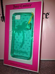 NIB Juicy Couture Iphone 5 Gelli Case Palm Tree Mermaid Seafoam